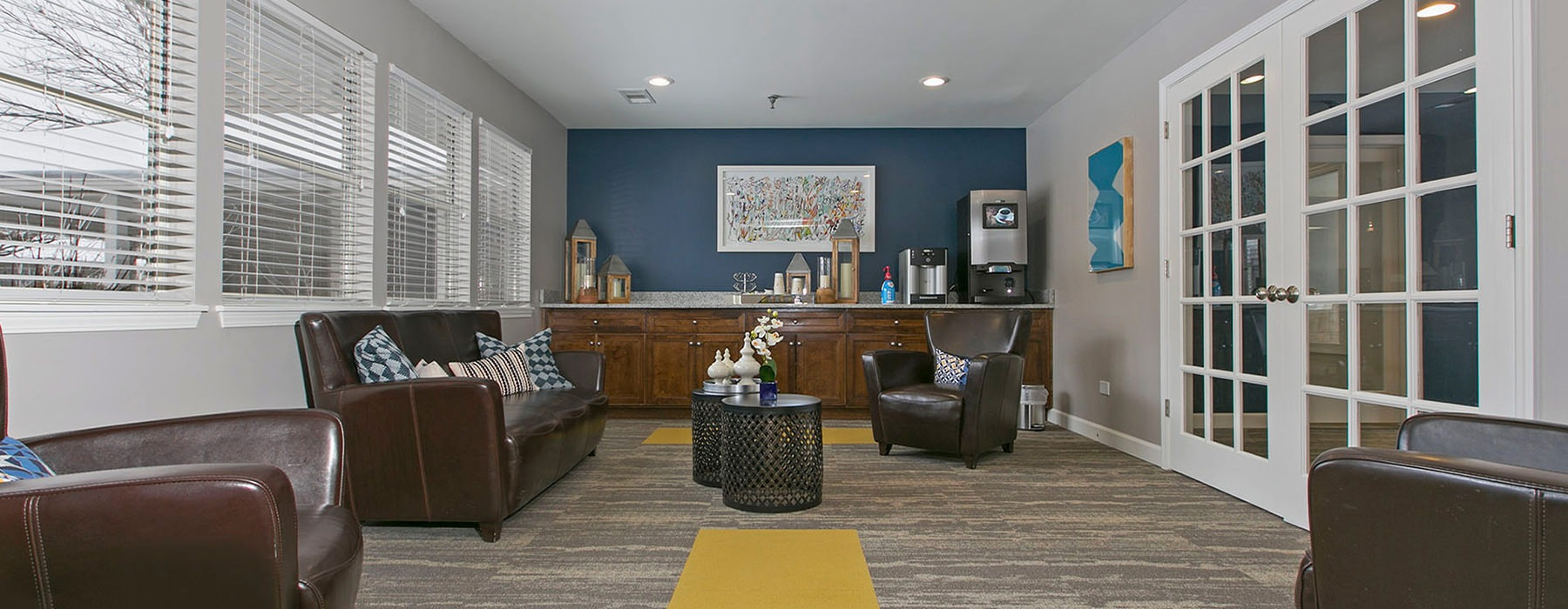 Clubhouse features plenty of seating